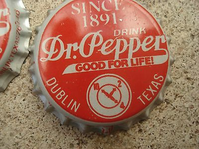 DR PEPPER DUBLIN TEXAS soda bottle cap unused Drink Dr. Pepper ONE CAP