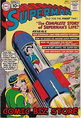 Superman #146 (1961) Silver Age Dc 1St Printing Fn+ 6.5 Jerome Wenker + Coa
