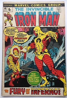 Iron Man #48 Bronze Age Comic Marvel Firebrand Fury And The Inferno!