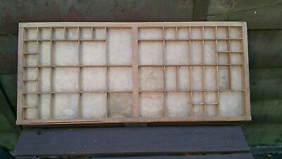 Vintage Printers Type Display Case