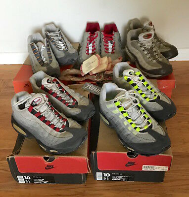 the latest 919a9 f3918 5 VTG 1995 Nike Air Max 95 Neon Metallic Red Tangerine Atmos Co Jp Rare  Size 10