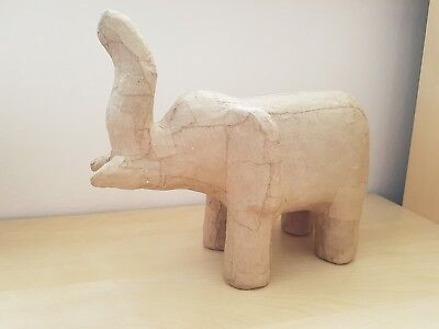 Papier mache elephants ready for decopage