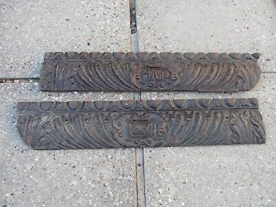 An Antique Carved Oak Fireplace/Over Door Panel Dated Anno 1634