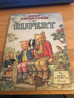 Original 1953 Rupert Bear Daily Express Annual in great condition for its age