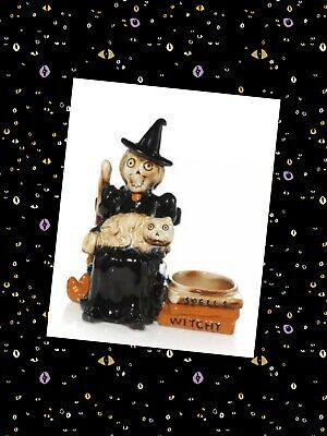 Yankee Candle 2018 Halloween Boney Bunch Witch Kitty Witchy Votive Candle Holder
