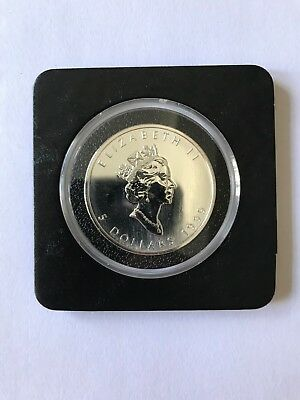 1999 1 Oz Canadian Silver Maple Leaf Coin Brilliant Uncirculated