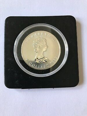 1989 1 Oz Canadian Silver Maple Leaf Coin Brilliant Uncirculated