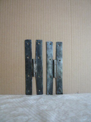 Pair 18th Century Antique H Hinges