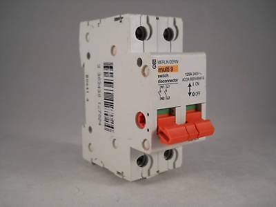 Merlin Gerin 125 Amp Main Switch Disconnector 125A Double Pole Multi9 MGI1252