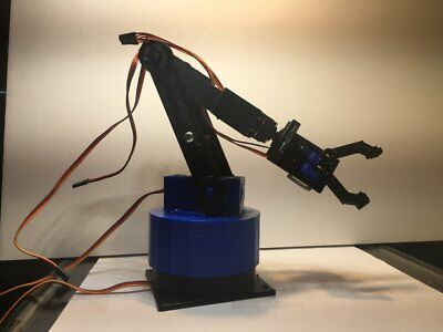 Robotic Arm Prototype For Arduino Fully Assembled With Servos New Cosmetic defec