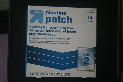 Up & Up Nicotine Patch ~ Step 2 ~ 14mg ~ 14 Patches ~ exp. 4/2019 ~ New Unopened