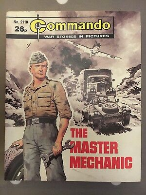 The Master Mechanic, Commando War Stories In Pictures, No.2110, 1987