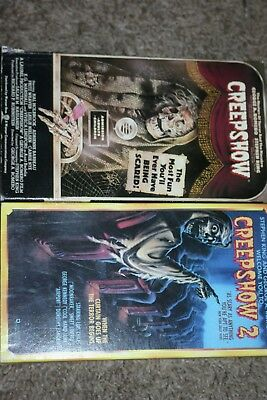 Rare Vintage Creepshow 1 & 2 Vhs Movie! Cult Horror! Stephen King George Romero