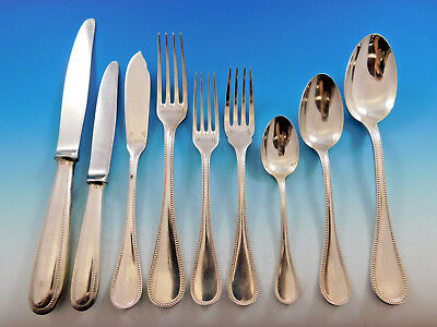 Perles by Christofle Silverplate Flatware Set for 12 Service 108 pieces Dinner