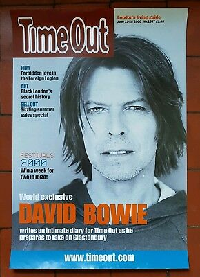 David Bowie ORIGINAL LARGE Time Out Magazine Promo Poster 70 x 48 cm RARE