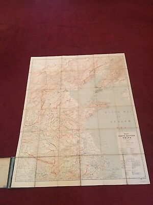 Map of north eastern China, 1900 By CH Waeber. Folded Map. Rare Item.