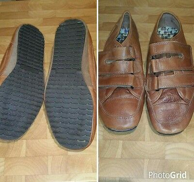 Boys tan soft leather NEXT shoes size 4 immaculate