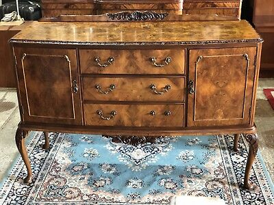 Maple & Co Queen Anne Bow Front Maple Buffet Sidebord