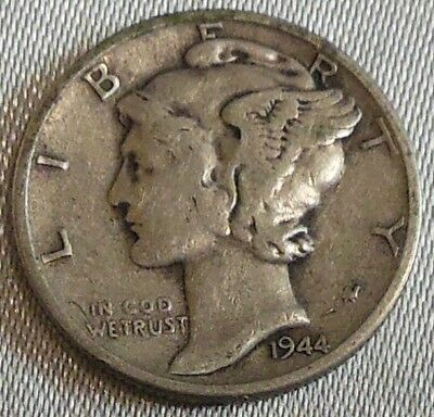 WW2 United States 1944 Mercury Dime US 10 Cents Silver Coin WWII