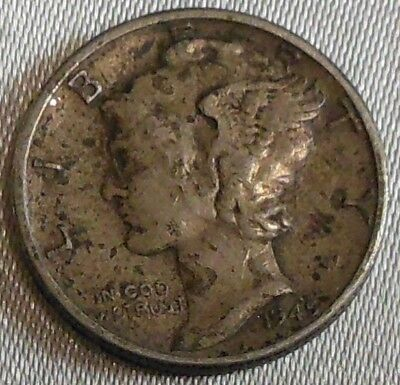 WW2 United States 1945 Mercury Dime US 10 Cents Silver Coin WWII