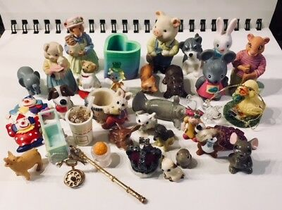 Lot of Miniatures Mixed Lot Dollhouse Items Ceramic Animals all Great Condition!