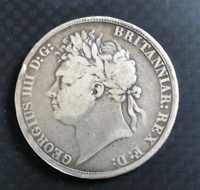 George 1111 Solid Silver Crown 1821 fine