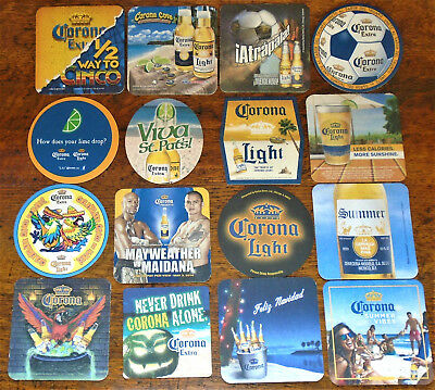 16 Different Corona  Beer / Bar Coasters