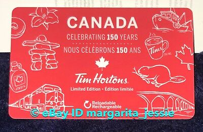 Tim Hortons Gift Card Canada Celebrating 150 Years Ltd Ed. No Value New Fd56632