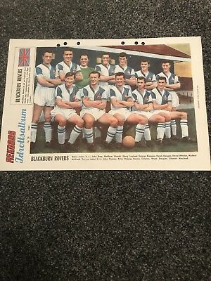 Blackburn Rovers 1965 Team  Picture From A Swedish Magazine Called REKORDS