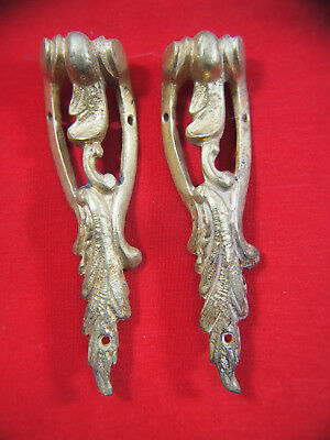 2 - French Mantel Clock Side Pieces