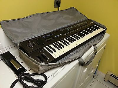 Casio HZ 600 SD Synthesizer Keyboard with Manual, Sustain Pedal, & Technics Bag