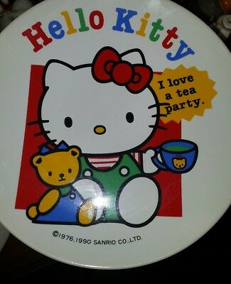 Hello Kitty 6 inch Plate I Love a Tea Party