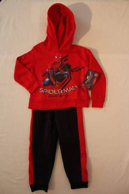 NEW Boys 2 pc Outfit Size 5 - 6 Spiderman Hoodie Pullover Top Pants Set Marvel