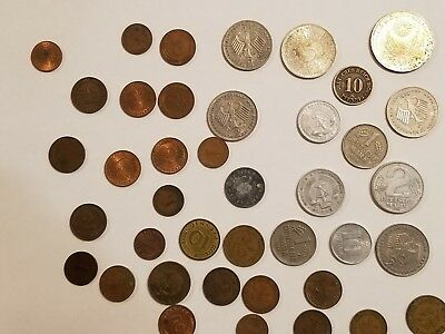 german coins lot includes 1972 Munich Olympics 10 Mark piece