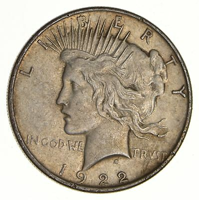 Early - 1922 - Peace Silver Dollar - 90% US Coin *527