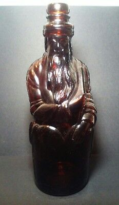 """Antique """"Moses"""" Poland Springs Water Hirram Riker & Sons Amber 10 3/4 Inch"""