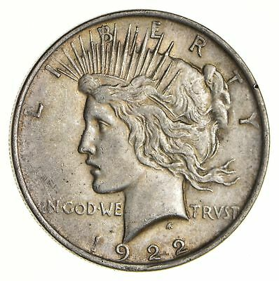 Early 1922 Peace Silver Dollar - 90% US Coin *447