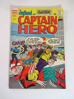 1966 Silver Age Archie Comics Jughead as Captain Hero #1 Fine Condition Comic