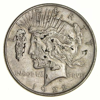 Early - 1922 - Peace Silver Dollar - 90% US Coin *118