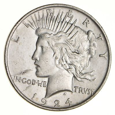 Early - 1924 - Peace Silver Dollar - 90% US Coin *132