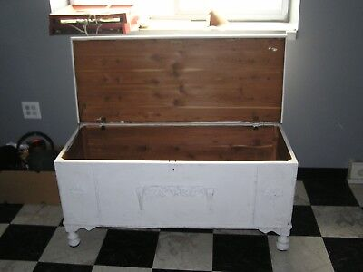 cedar chest trunk white approx. 4'L x 24W x 30H  Pick Up ONLY PA 17065