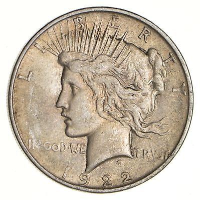 Early - 1922-D - Peace Silver Dollar - 90% US Coin *124