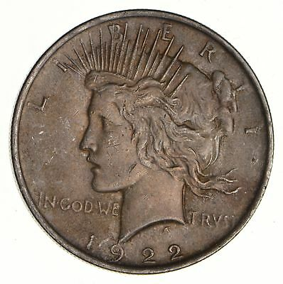 Early - 1922 - Peace Silver Dollar - 90% US Coin *538