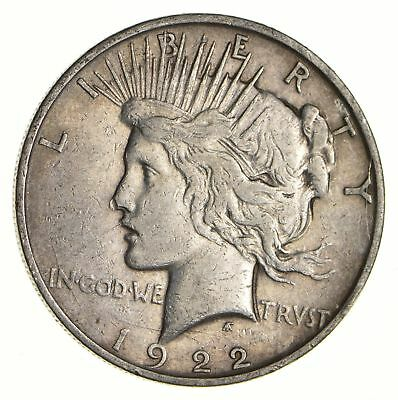 Early 1922-D Peace Silver Dollar - 90% US Coin *441
