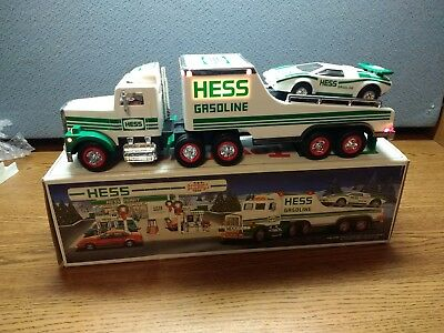 1991 Hess Truck with Car and Box.