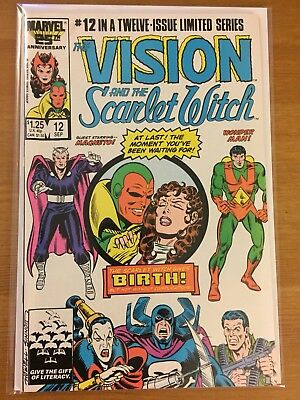 Vision and the Scarlet Witch 12 fine 1st App Twins