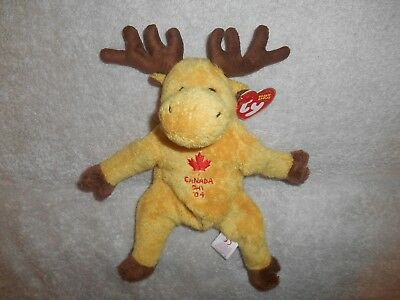 Ty Beanie Babies Dominion Moose Canada Day 2004 Internet Store Exclusive  Plush 819e8764142c
