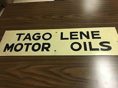 Skelly Tagolene Motor Oil Service Ahead Highway Sign Metal Not Porcelain Heavy