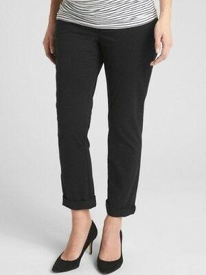 New With Tags Gap Maternity Full Panel Girlfriend Chino Black***Size 16