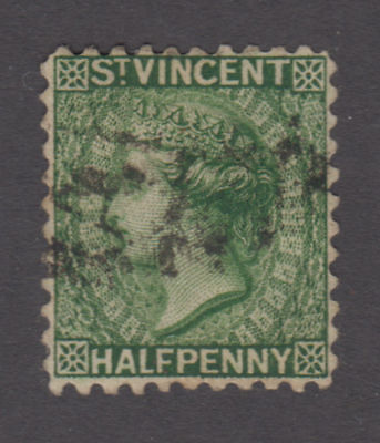 St. Vincent - 1884 1/2 Penny Green. Sc. #35, SG #42. Used